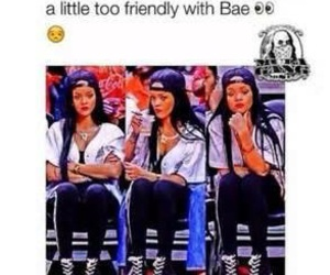 bae, funny, and rihanna image