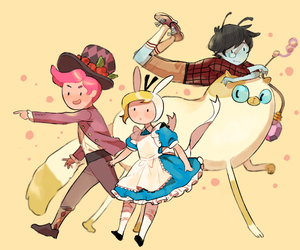 adventure time, prince gumball, and cake the cat image