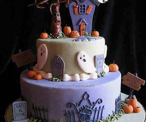 Halloween, cake, and ghost image