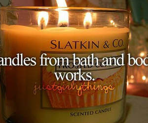 candle, bath and body works, and girly image