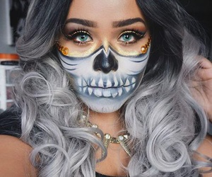 Halloween, makeup, and fashion image