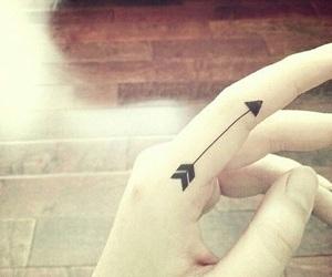 arrow, black, and girl image