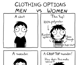funny, sarah andersen, and clothes image