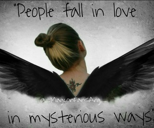 angel, fall in love, and people image