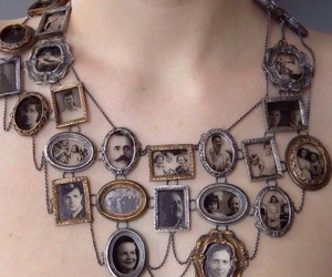 necklace, vintage, and old image