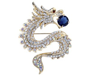 dragon jewelry, animal brooch, and dragon brooch image