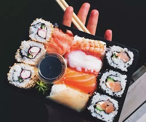 food, sushi, and fish image