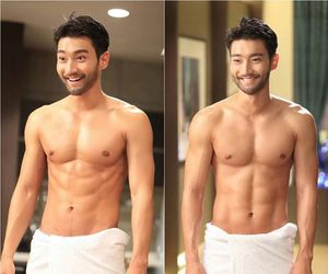 siwon, she was pretty, and super junior image