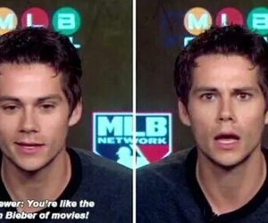 dylan o'brien, funny, and justin bieber image