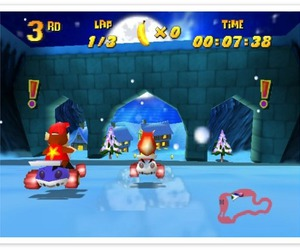 64, game, and snow image