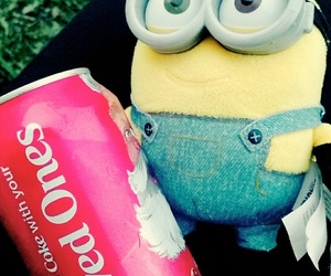 coke, minion, and lovedones image