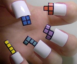 nails, tetris, and nail art image