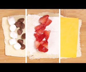 banana, cheese, and chocolate image