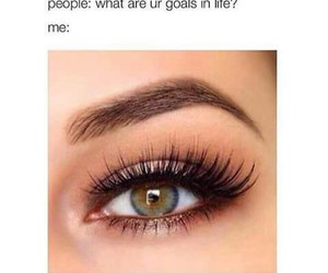 eyes, goals, and eyebrows image
