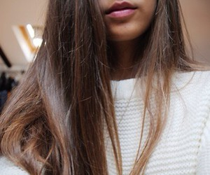 hair, lips, and long hair image