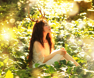 dryad, forest spirit, and in the forest image