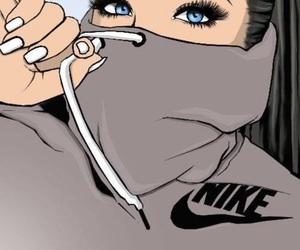 nike, drawing, and eyes image