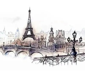 paris, drawing, and france image