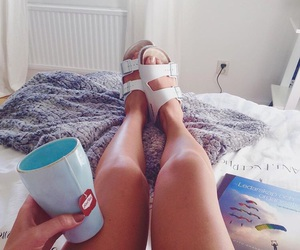 cozy, legs, and girl image