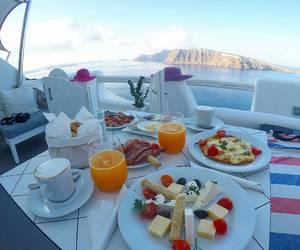 beautiful, sea, and breakfast image