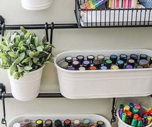 craft room, nail polish, and organization image