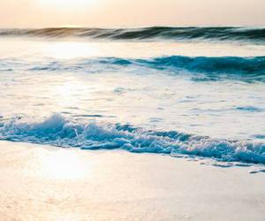 morning, sea, and sand image