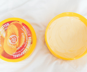mango, body butter, and body shop image