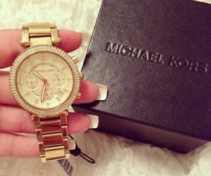 gold, Michael Kors, and luxury image