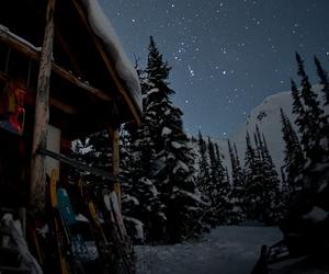 snow, stars, and winter image