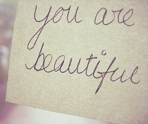 beautiful, text, and you image