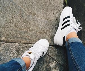 adidas, autumn, and black image
