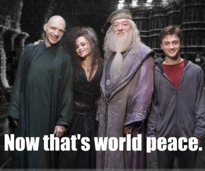 harry potter, dumbledore, and voldemort image