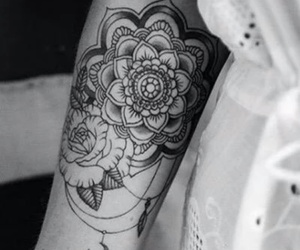 tattoo, flowers, and mandala image