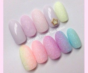nail, pastel, and sugar image