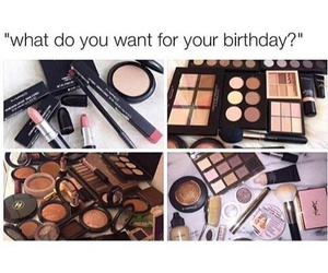 makeup, birthday, and mac image