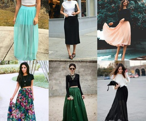 glamour, maxi skirt, and summer image