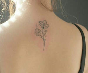 flower tattoo and tattoo image
