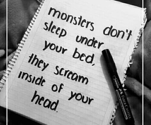 bed, head, and monster image