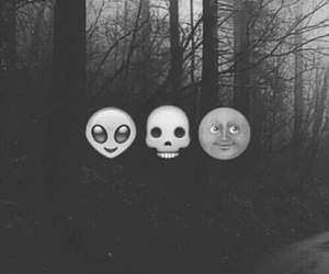 emoji, dark, and alien image