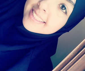 happy, hijab, and khimar image