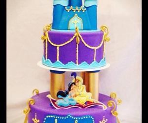 aladdin, disney, and cake image