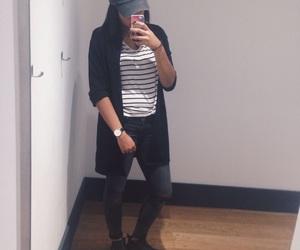 baseball cap, fashion, and girl image