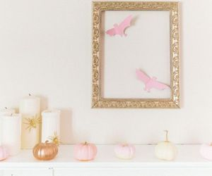 gold, Halloween, and pink image