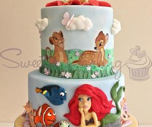 ariel, bambi, and cake image