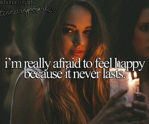 happy, thought, and afraid image
