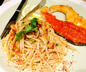food, fusion, and pasta image