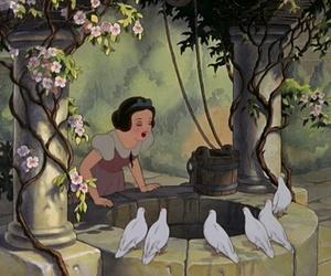 samara, snow white, and black and white image