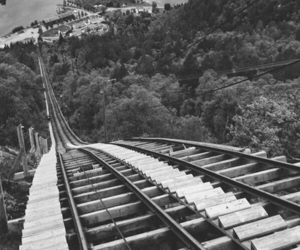 Roller Coaster, black, and black and white image