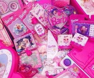 pink, barbie, and american image