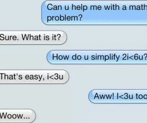 love, math, and funny image